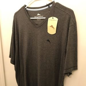 NWT Tommy Bahama v-neck T-shirt Grey size Large